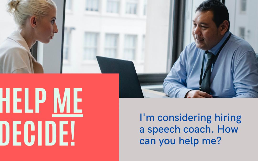 Hire a Speech Coach