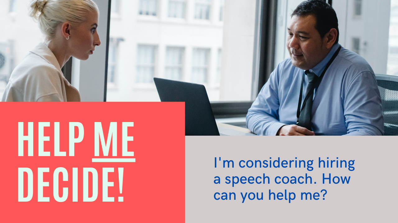 Laura shares how a speech coach will help you achieve communication confidence.
